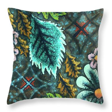 Blue Mood 3 Throw Pillow