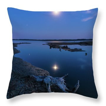 Blue Moonlight Throw Pillow