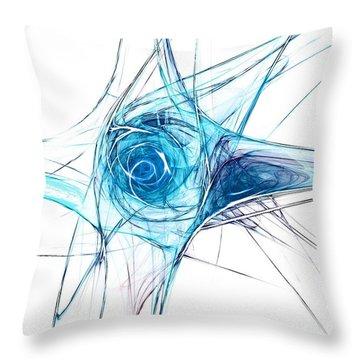 Blue Planet Throw Pillow