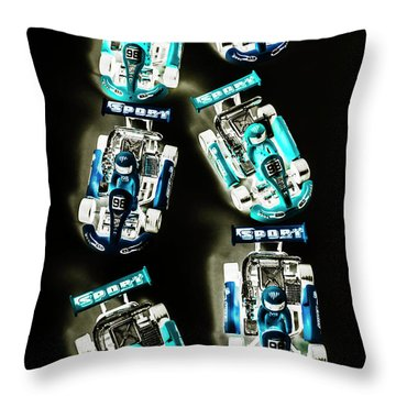 Blue Racers Throw Pillow