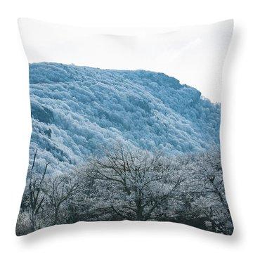 Blue Ridge Mountain Top Throw Pillow