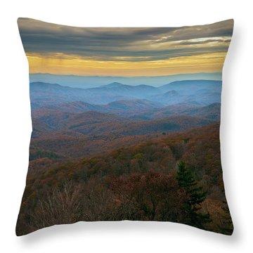 Blue Ridge Parkway - Blue Ridge Mountains - Autumn Throw Pillow