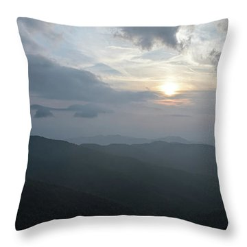 Blue Ridge Parkway Sunset Throw Pillow