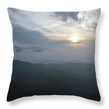 Blue Ridge Parkway Sunset Throw Pillow
