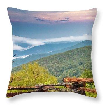 Throw Pillow featuring the photograph Blue Ridge Parkway View by Ken Barrett