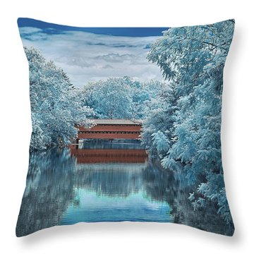 Blue Sach's Throw Pillow