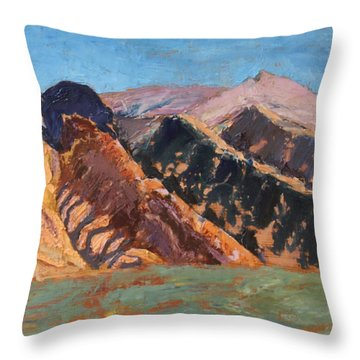 Blue Sky Canigou Throw Pillow