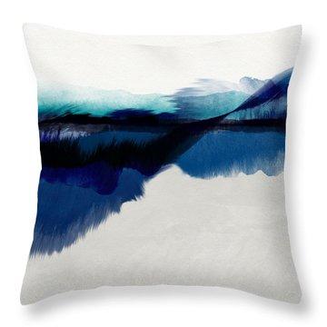 Blue Vista- Art By Linda Woods Throw Pillow