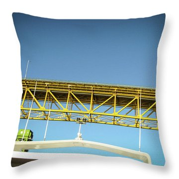 Throw Pillow featuring the photograph Blue, Yellow And Green by Juan Contreras