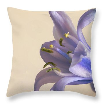 Bluebell Flower  Throw Pillow
