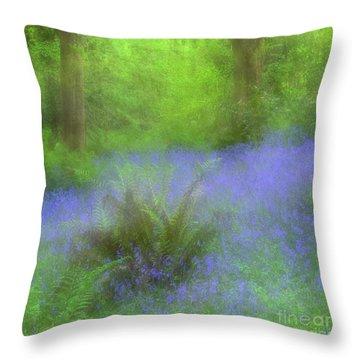 Bluebell Impression Throw Pillow