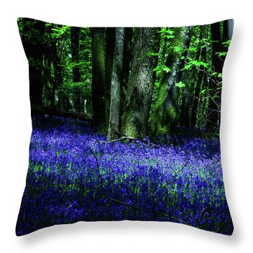 Bluebell Wood Devon Throw Pillow