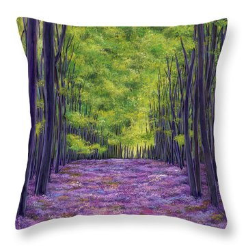Bluebells And Daydreams Throw Pillow