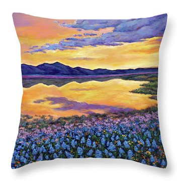 Bluebonnet Rhapsody Throw Pillow