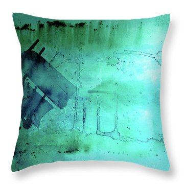 Throw Pillow featuring the painting Blues And Twos by Valerie Anne Kelly