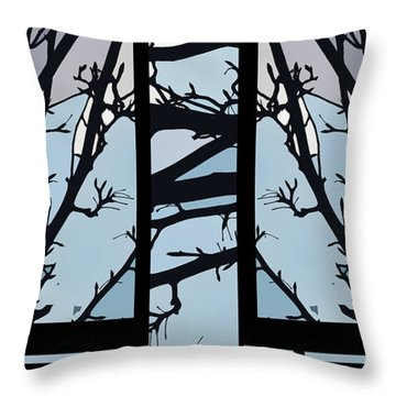 Blues - Barely Spring Abstract - Throw Pillow