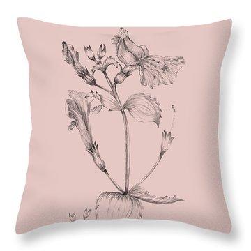 Blush Pink Flower I Throw Pillow