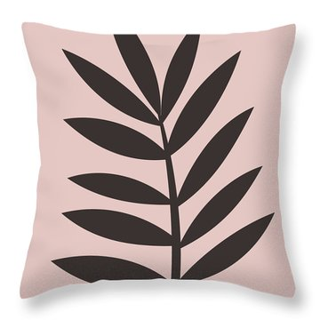 Blush Pink Leaf I Throw Pillow