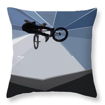 Bmx Biking  Throw Pillow