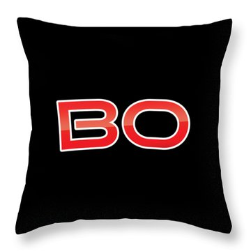 Throw Pillow featuring the digital art Bo by TintoDesigns