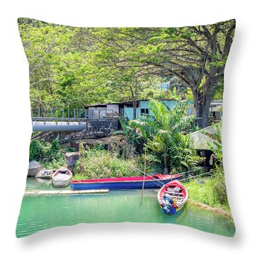 Boat And Rafting Tours Throw Pillow