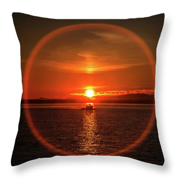 Boating In The Iris Throw Pillow