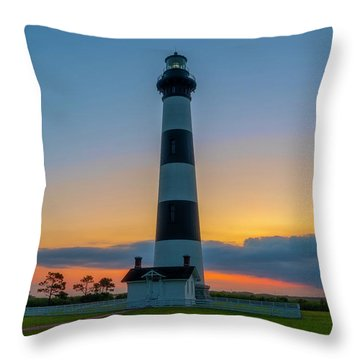 Bodie Island Lighthouse, Hatteras, Outer Bank Throw Pillow