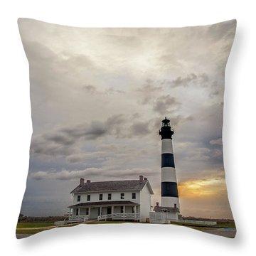 Bodie Island Lighthouse No. 2 Throw Pillow