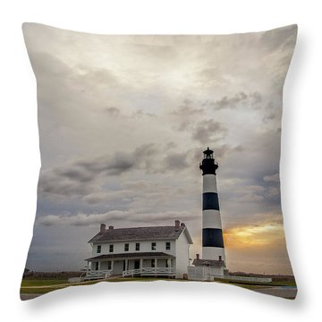 Bodie Island Lighthouse No. 2 Throw Pillow