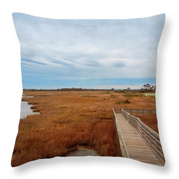 Bodie Island Lighthouse No. 3 Throw Pillow