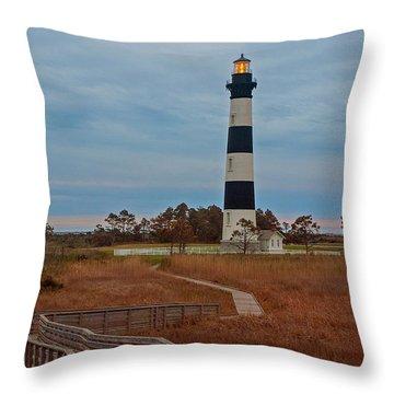 Bodie Island Lighthouse No. 4 Throw Pillow