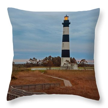 Bodie Island Lighthouse No. 4 Throw Pillow