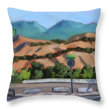 Boise Foothills Throw Pillow