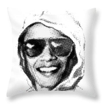 Bomber Suspect Throw Pillow