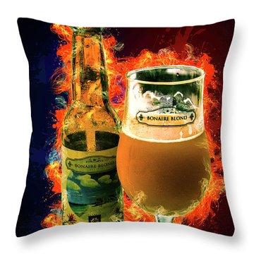 Bonaire Blond Throw Pillow