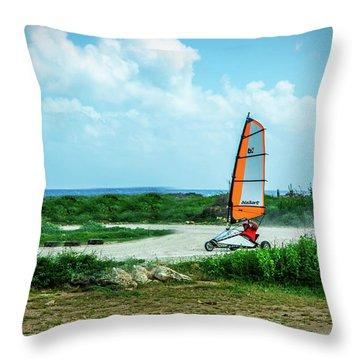 Bonaire Land Sailor  Throw Pillow
