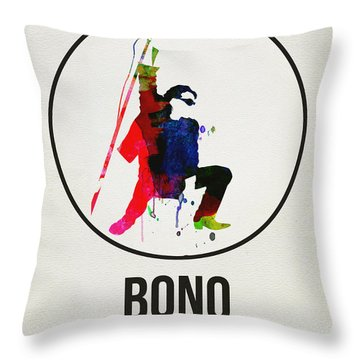 Bono II Throw Pillow