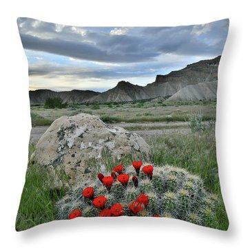 Book Cliffs Clarion Cactus Throw Pillow