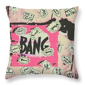 Boom Crash Bang Throw Pillow