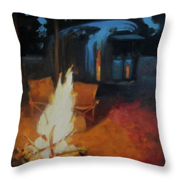 Boondocking At The Grand Canyon Throw Pillow