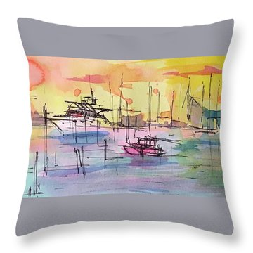 Boothbay 2  Throw Pillow