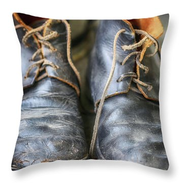 Boots Of Company H Throw Pillow