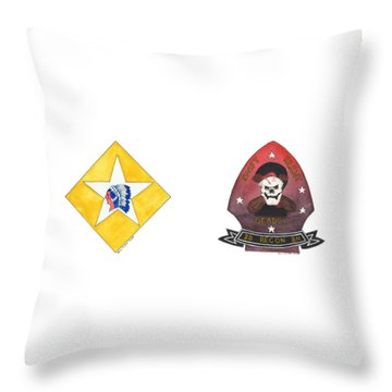 Throw Pillow featuring the painting Bopp by Betsy Hackett