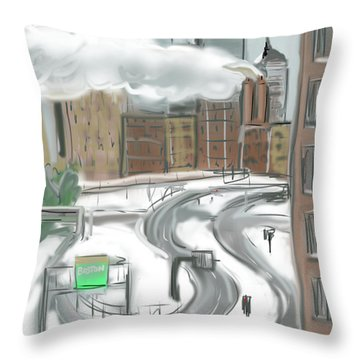Boston After The Blizzard Throw Pillow