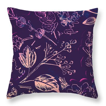 Botanical Branching Throw Pillow