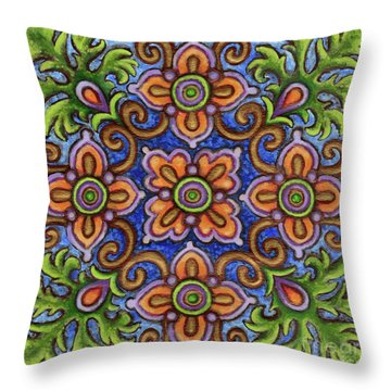 Botanical Mandala 1 Throw Pillow