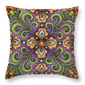 Botanical Mandala 10 Throw Pillow