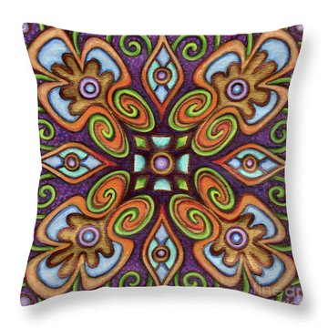 Botanical Mandala 11 Throw Pillow