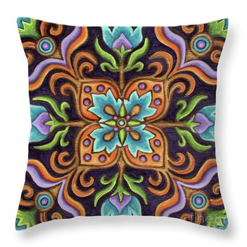 Botanical Mandala 12 Throw Pillow
