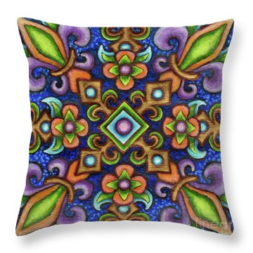 Botanical Mandala 3 Throw Pillow